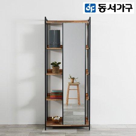 *취향저격 철제 오픈 클로젯  조립식 오픈형 철제 4단 수납거울장 세트 _멀바우