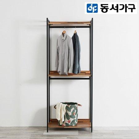 *취향저격 철제 오픈 클로젯  조립식 오픈형 800 2단 행거 옷장 _멀바우