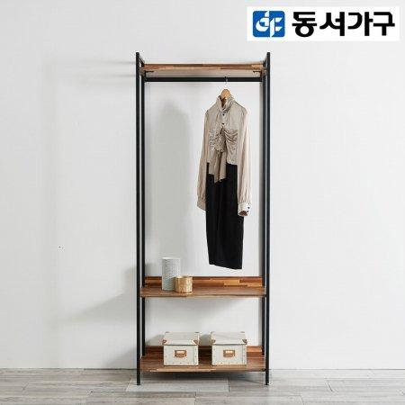 *취향저격 철제 오픈 클로젯  조립식 오픈형 800 1단 행거 옷장 _멀바우