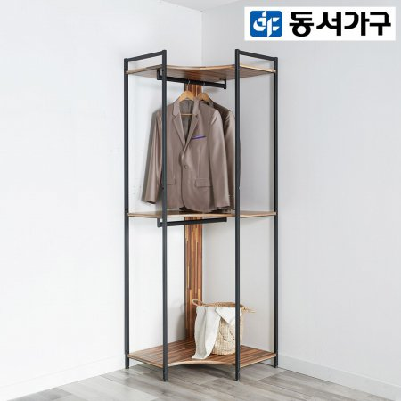 *취향저격 철제 오픈 클로젯  조립식 오픈형 600 코너장 _멀바우