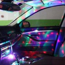 USB 미니 미러볼 차량용 휴대용 LED 무드등_0E6B70 MIROBEE-그린