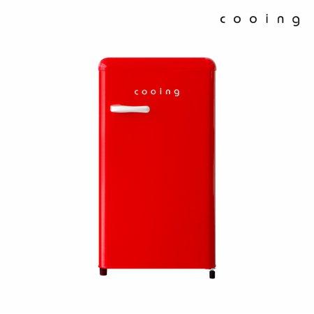 85L 유럽형 스타일리쉬 냉장고 (레드) / REF-90CNR