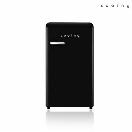 92L 유럽형 스타일리쉬 냉장고 (블랙) / REF-S92BK