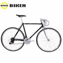 [BIKEN] 바이큰 Weekly T-21 Track bar 하이브리드 자전거 옐로우:46※고객조립필요