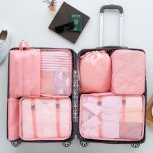 여행용 뉴프리미엄 파우치 7종세트 (핑크) NO.1543