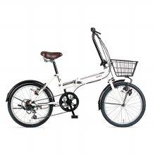 아사히자전거 쓰리프트 폴딩자전거 화이트※고객조립필요