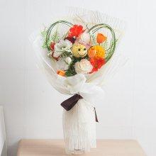 아네모네하트꽃다발 55cmP (조화) FMBBFT 아네모네하트꽃다발