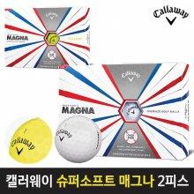 캘러웨이 정품 슈퍼소프트 매그나 2피스 골프공 화이트:무료포장