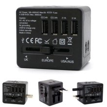 (트래블이지)여행용 4포트 USB아답터(1CB8D3) 블랙