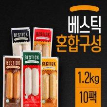 닭가슴살 소시지 혼합 10팩(1.2kg) [훈제2,마늘2,고추2,매콤치즈2,카레2]