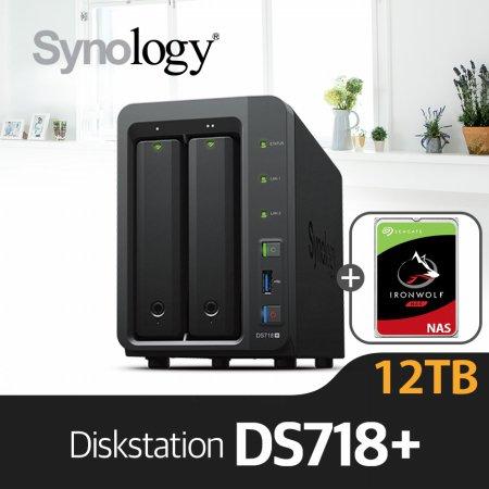 [에이블] DS718+ [시게이트 아이언울프 6TBx2]/NAS전용HDD