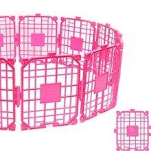 애견 울타리 중형 핑크 12p 강아지 팬스(04B22A)