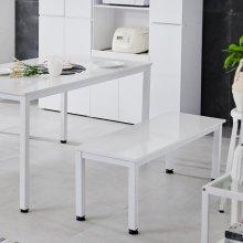 자이 벤치의자 식탁벤치 1600x400 1600x400:화이트+화이트