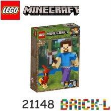 레고 21148 마인크래프트 빅피겨 스티브와 앵무새 BR