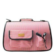 애견 캐리어 스포츠이동가방 줄무늬 핑크 (L) 1 EA_28F337