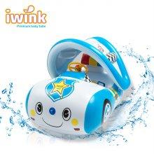 프리미엄 물놀이용 대형 아기 보행기 튜브 경찰차