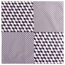 블록 면나염 손수건 /44 x 44 (cm) 블루:FREE