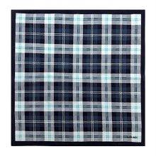 아몬드체크 선염 손수건/ 44 x 44 (cm) 블랙:FREE