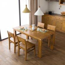앤디 6인 식탁세트(6인식탁+사이드체어(3) 4조) 브라운