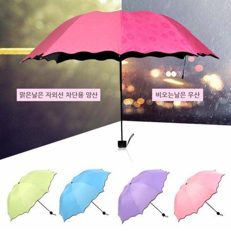 비오면 벚꽃이 플라워 암막 양우산 자외선차단 양산