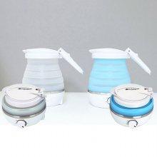 컬링스톤 휴대용 접이식 전기포트 (블루)