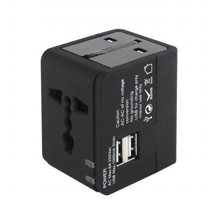 [무료배송] 여행용 멀티플러그 아답타 USB2포트 NEXT-005TC