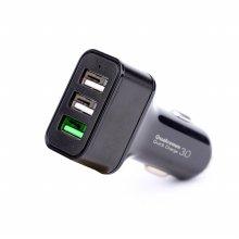 차량용 USB 3포트 퀵차지 시거잭 고속충전기 NEXT-1404CHG