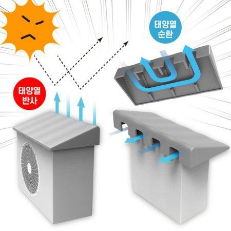 (무료배송) 에어컨 실외기커버 열차단 절전효과 차광막 덮개 친환경UV코팅