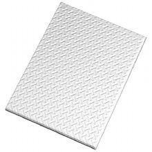 베르블럭 미니브릭 접착식 스테인레스 메탈타일 [체크 실버](6cmX7.2cm)