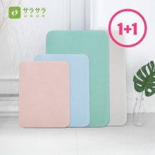 1+1 사라사라 정품 규조토 욕실 발매트 집들이선물 사이즈 및 색상:그레이(S)+그레이(S)