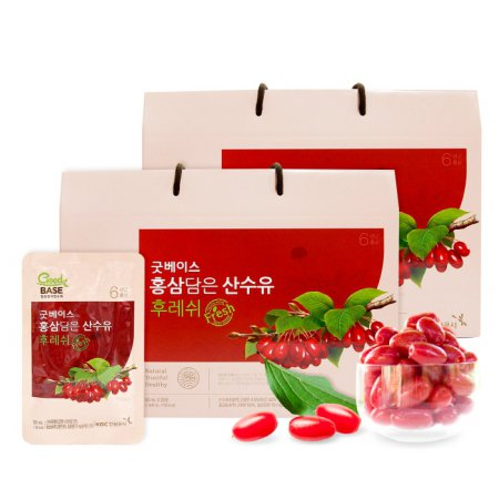 [굿베이스] 홍삼담은 산수유 후레쉬 2박스(50ml*20포*2박스)