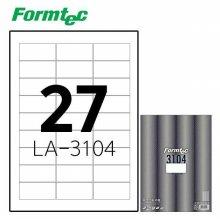 폼텍 LA-3104 20매 레이저 광택 라벨