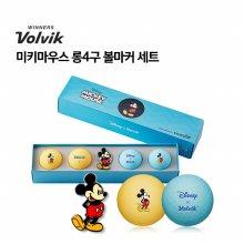[볼빅] VIVID-LITE 디즈니 미키마우스 롱4구 볼마커 세트 (신형)
