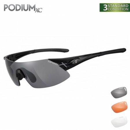 티포시 포디엄XC 블랙-화이트(스모크+AC 레드+클리어(렌즈3개)) 1070100101