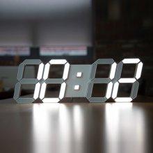 LED 스마트 벽시계 화이트