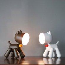 LED 살랑꼬리 강아지 무드등 화이트