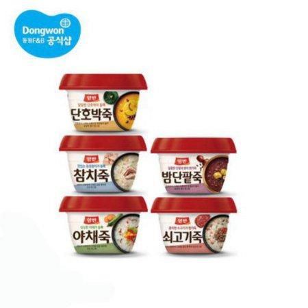 인기 양반죽 모음 (쇠고기/야채/참치/밤단팥/호박) 5종 택1 x 7