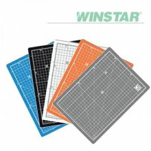 윈스타 PVC 칼라 300X215 A4 데스크 커팅매트 _화이트그레이