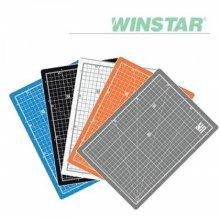 윈스타 PVC 칼라 450X300 A3 데스크 커팅매트 _화이트그레이