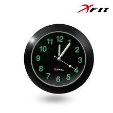 XFIT 모던클락 차량용 시계 블랙