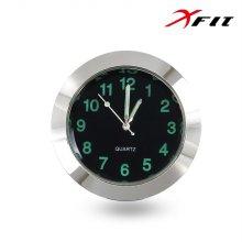 XFIT 모던클락 차량용 시계 실버