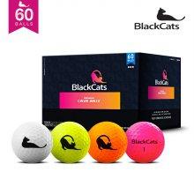 블랙캣츠 컬러혼합 60알 패키지 골프공