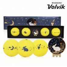 볼빅 비비드 골프공 추석기획 LONG SET 4알 골프용품 필드용품 VOLVIK VIVID LITE SPECIAL SET