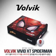 [볼빅] VIVID XT (비비드 엑스티) 마블 스파이더맨(SPIDERMAN) [4피스/4알+볼마커+클립][한정판]