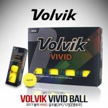 [볼빅] VIVID(비비드) 세계 최초 무반사 코팅 골프볼 [3피스/12알] [옐로우]