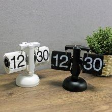 홈 인테리어 집들이선물 메탈 플립 스탠드시계 CHESS BLACK