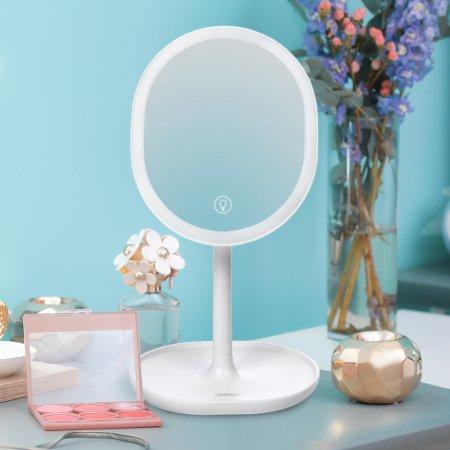 조이룸 JR-CY268 충전식 LED 화장대 확대 탁상 거울 화이트
