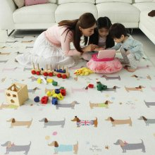 놀이방매트 어린이집매트 1.4mx1.3m 헬로퍼피-우드_379B08