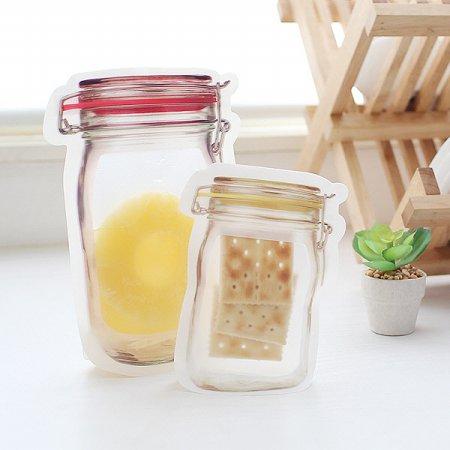 소분밀폐 방수보관 유리병 Jar 디자인 스탠드 지퍼백