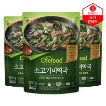 쉐푸드 상온 소고기 미역국 500gx3팩
